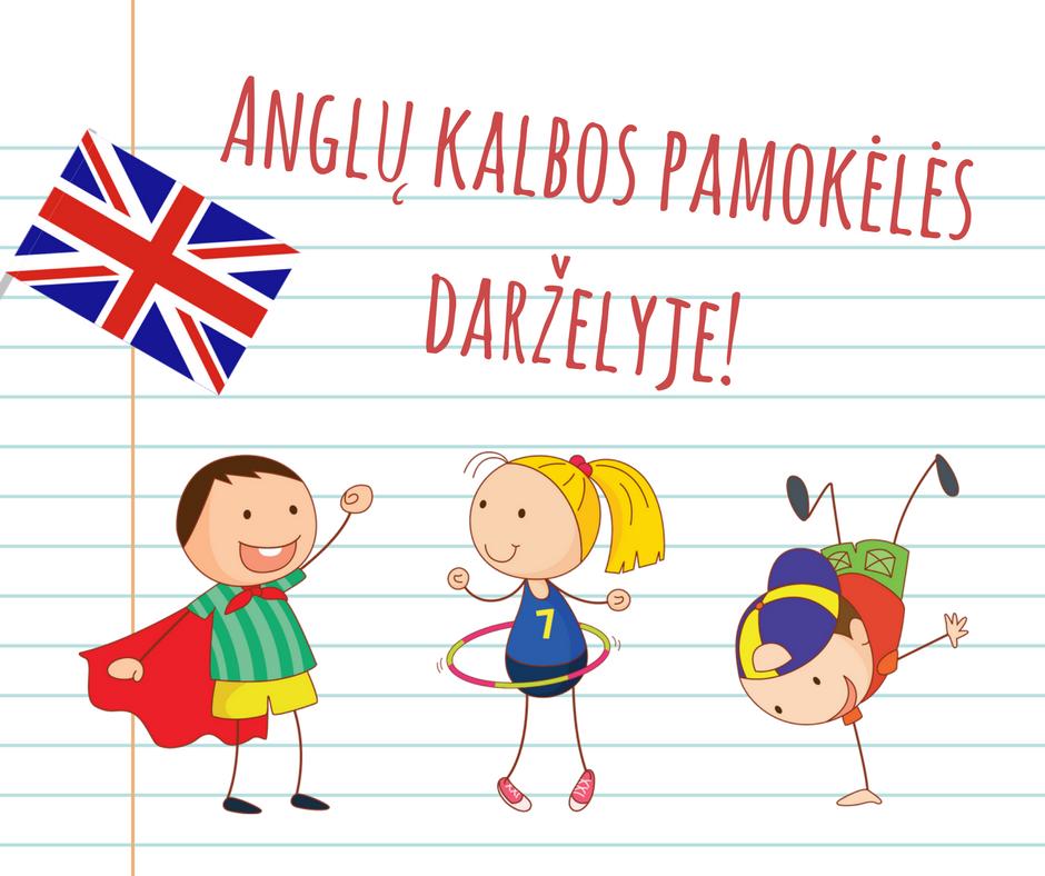 Anglų kalbos pamokėlės darželyje!